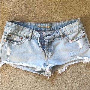 American Eagle distressed jean shorts